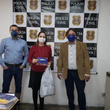 Doação de máscaras contra a COVID-19 à Polícia Militar e Civil