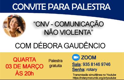 Palestra online: Comunicação não violenta – dia 03/03/2021 às 20h