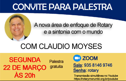 Palestra online: Nova área de enfoque do Rotary – Seg, dia 22/03/2021 às 20h