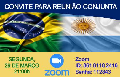 Convite para participar da reunião conjunta com clube da Argentina – Segunda, 29/03/2021 às 21h